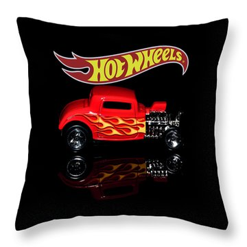Throw Pillow featuring the photograph Hot Wheels '32 Ford Hot Rod by James Sage