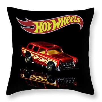 Throw Pillow featuring the photograph Hot Wheels '55 Chevy Nomad 2 by James Sage