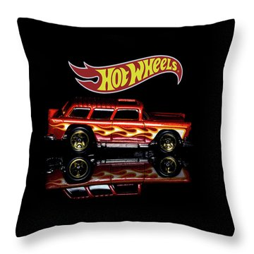 Throw Pillow featuring the photograph Hot Wheels '55 Chevy Nomad by James Sage