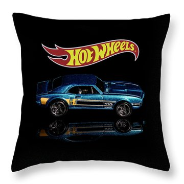 Throw Pillow featuring the photograph Hot Wheels '67 Pontiac Firebird 400-1 by James Sage
