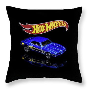 Throw Pillow featuring the photograph Hot Wheels '67 Pontiac Firebird 400-2 by James Sage