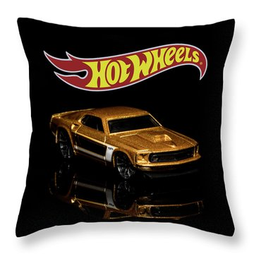 Throw Pillow featuring the photograph Hot Wheels '69 Ford Mustang 2 by James Sage