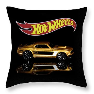 Throw Pillow featuring the photograph Hot Wheels '69 Ford Mustang by James Sage