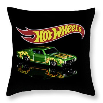 Throw Pillow featuring the photograph  Hot Wheels '69 Ford Torino Talladega by James Sage