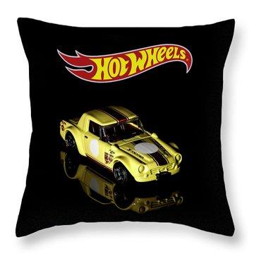 Hot Wheels Datsun Fairlady 2000 Throw Pillow