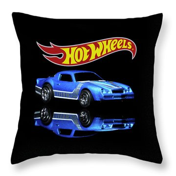 Throw Pillow featuring the photograph Hot Wheels Gm Camaro Z28 by James Sage