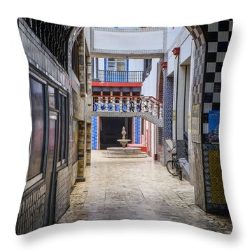 Hotel Belmar Mazatlan Throw Pillow