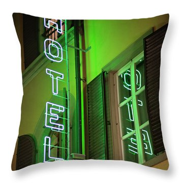 Throw Pillow featuring the photograph Hotel California - Rome Italy Photography by Melanie Alexandra Price