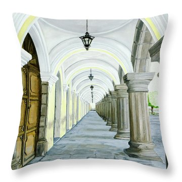 Hotel Casa Mia Throw Pillow