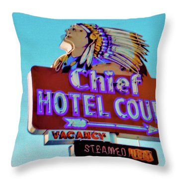 Throw Pillow featuring the photograph Hotel Chief Court by Matthew Bamberg