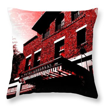 Throw Pillow featuring the photograph Hotel Congress by MB Dallocchio