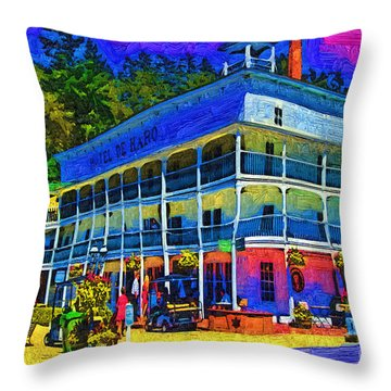 Hotel De Haro Throw Pillow