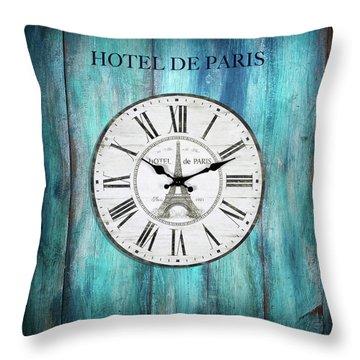 Hotel De Paris Throw Pillow