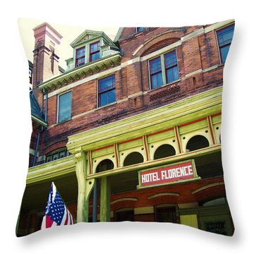 Hotel Florence Pullman National Monument Throw Pillow by Kyle Hanson