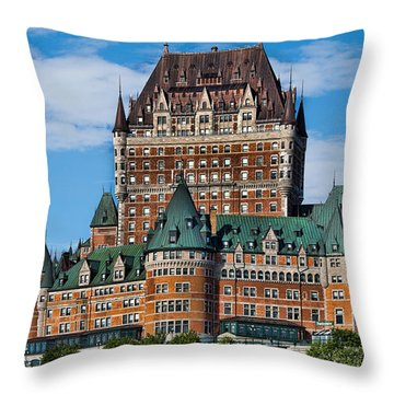 Chateau Frontenac In Quebec City Throw Pillow