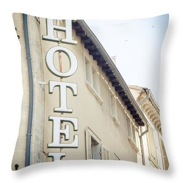 Throw Pillow featuring the photograph Hotel by Jason Smith
