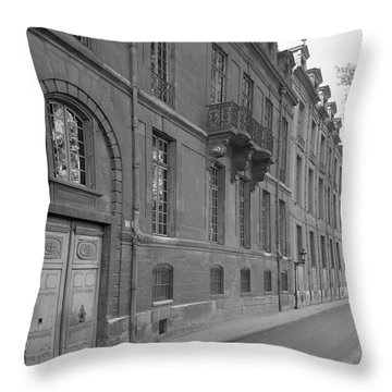 Hotel Lauzun, Facade, 1929 Throw Pillow