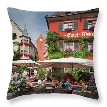 Hotel Lowen-weinstube Throw Pillow