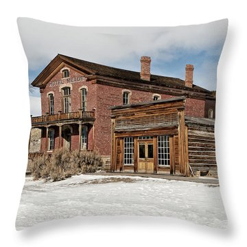 Hotel Meade And Saloon Throw Pillow