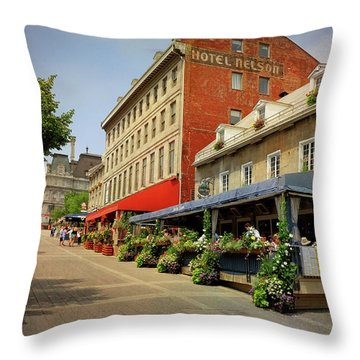 Hotel Nelson - Place Jacques Cartier Throw Pillow