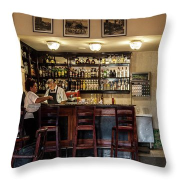 Throw Pillow featuring the photograph Hotel Presidente Bar Havana Cuba by Charles Harden