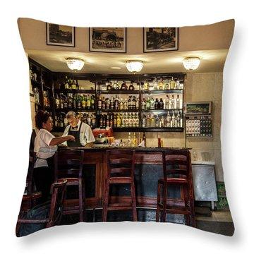 Throw Pillow featuring the photograph Hotel Presidente Bar Havana Cuba by Charles Harden