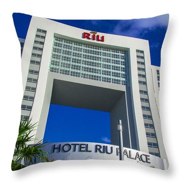 Hotel Riu Palace In Cancun Throw Pillow