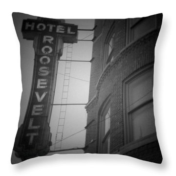 Hotel Roosevelt Throw Pillow