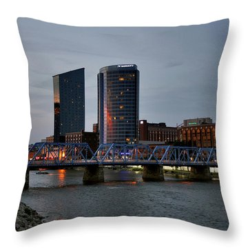 Hotels On The Grand River Throw Pillow