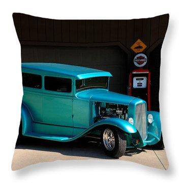 Hotrod Car Throw Pillow