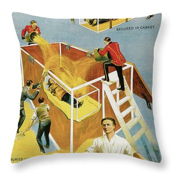 Houdini Buried Alive Throw Pillow
