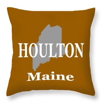 Throw Pillow featuring the photograph Houlton Maine State City And Town Pride  by Keith Webber Jr