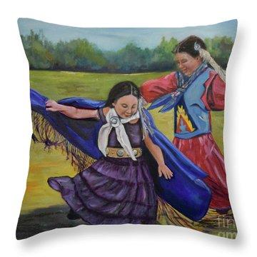 Houma Indian Dance Throw Pillow