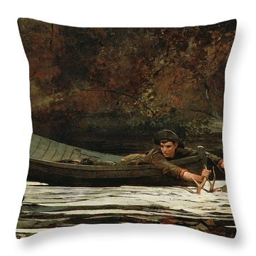 Hound And Hunter Throw Pillow