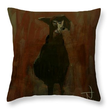 Throw Pillow featuring the digital art Hound by Jim Vance