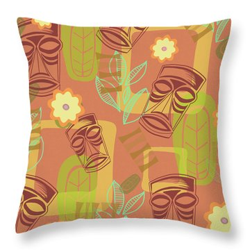 Hour At The Tiki Room Throw Pillow