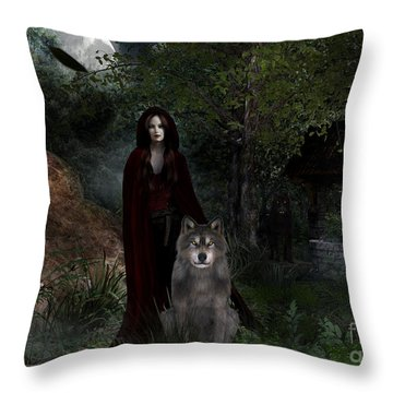 Hour Of The Wolf Throw Pillow