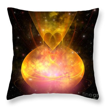 Hourglass Nebula Throw Pillow by Corey Ford
