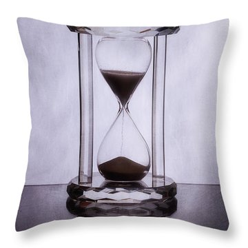Hourglass - Time Slips Away Throw Pillow