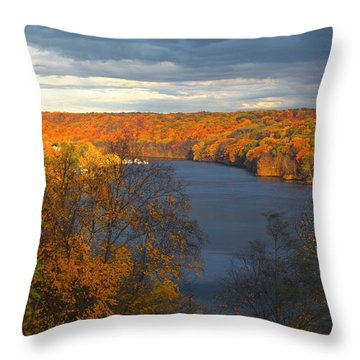 Throw Pillow featuring the photograph Housatonic In Autumn by Karol Livote