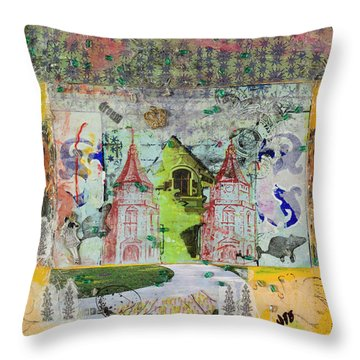 House #4 Throw Pillow
