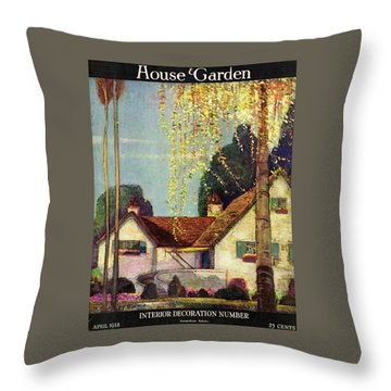 House And Garden Interior Decoration Number Cover Throw Pillow