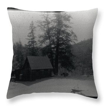 House And Horse Throw Pillow
