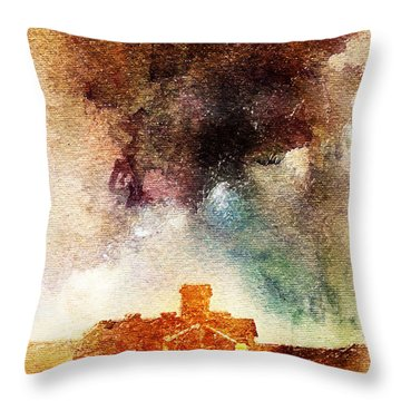 House And Night Throw Pillow
