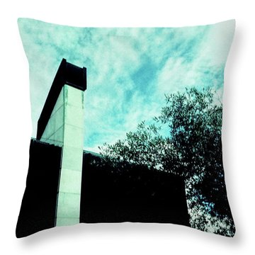 House And Sky Throw Pillow