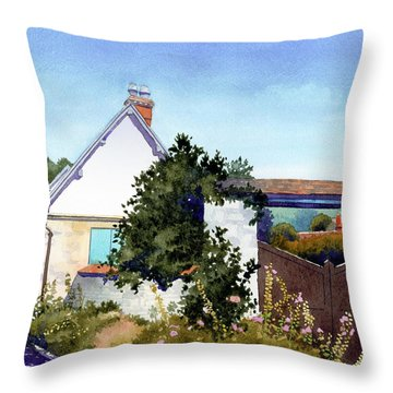 House At Giverny Throw Pillow