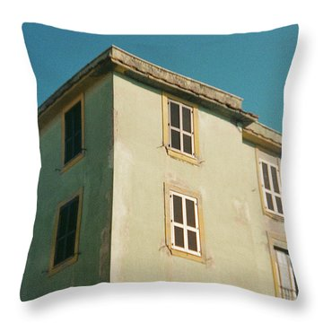 House In Ostia Beach, Rome Throw Pillow