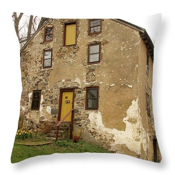 Throw Pillow featuring the photograph House In Pennsylvania by Emanuel Tanjala