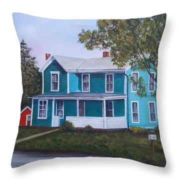 House In Seward Throw Pillow