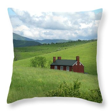 House In The Hills Throw Pillow
